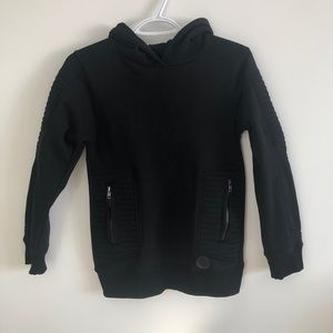 Black Pullover Hoodie for Boys Size Medium